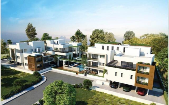 Front view apt complex to buy in Larnaca