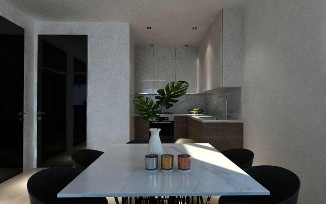 Dining Area in modern apartment for sale