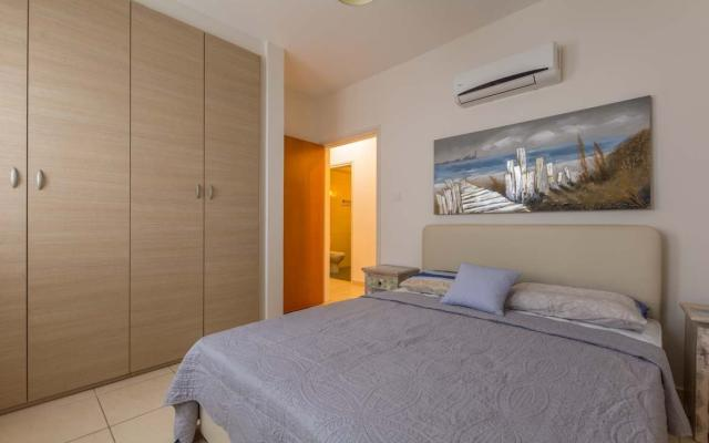 One of the bedrooms in apartment for sale in Larnaca