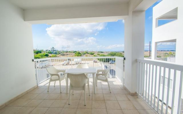 Spacious balcony in apartment for sale