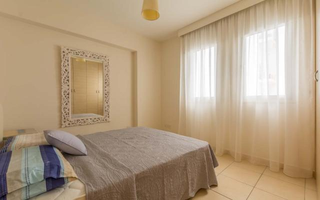 Bedroom with a lot of light in apartment for sale