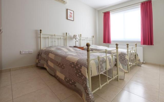 double bed in oroklini villa