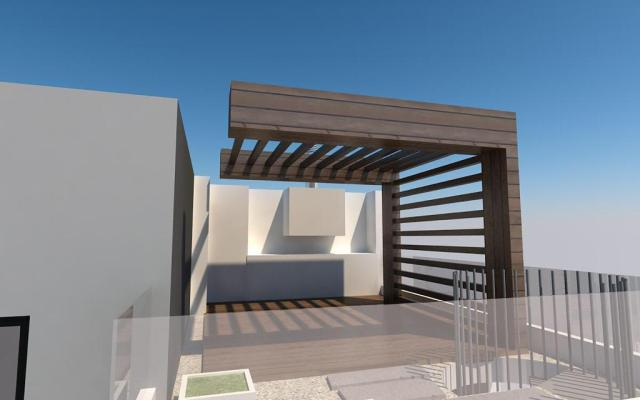 Roof garden for 2 bed apartment in Larnaca