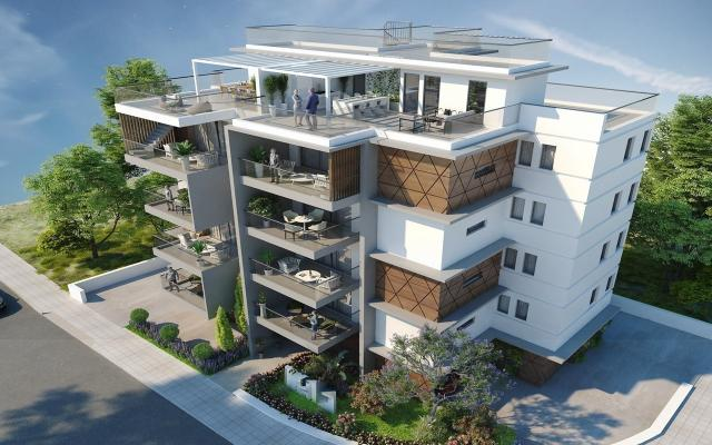 Front view apt to buy in Larnaca