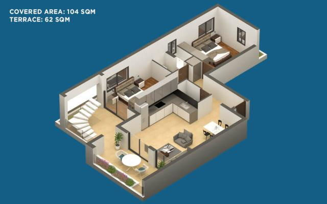 PLAN FOR 2 BED APT