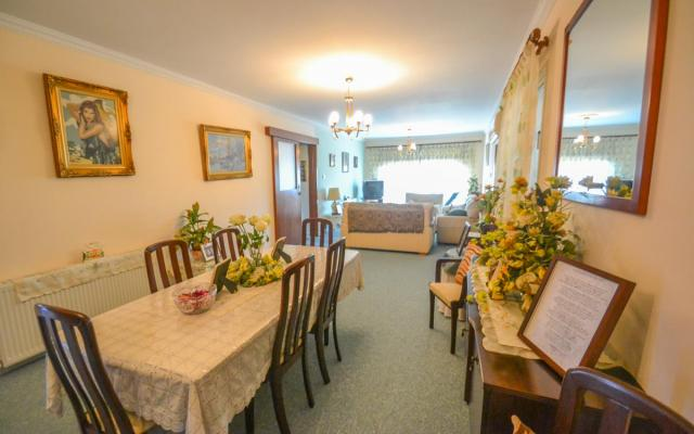 Dining area in large apartment for sale