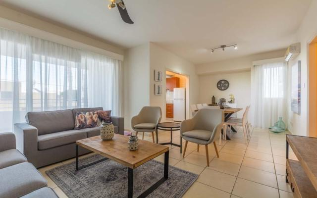Cozy living area in 3 bed flat for sale in Larnaca town