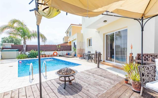 Pool area in Sotira property for sale