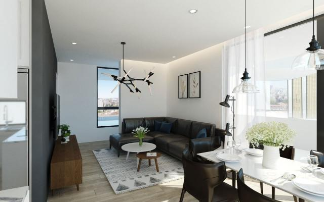 living area in 2 bed apt for sale in Larnaca