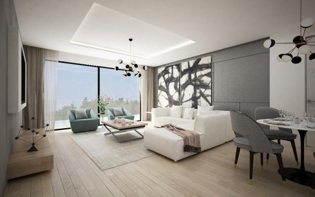 Living area in 2 bedroom apartment for sale
