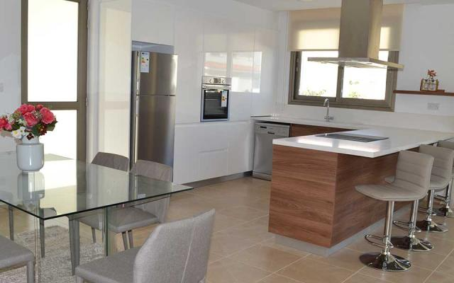 Kitchen area of the villas in Altheriko