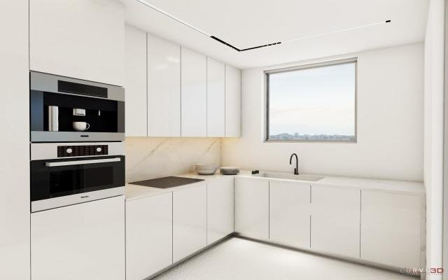 Kitchen Area in smart apt for sale