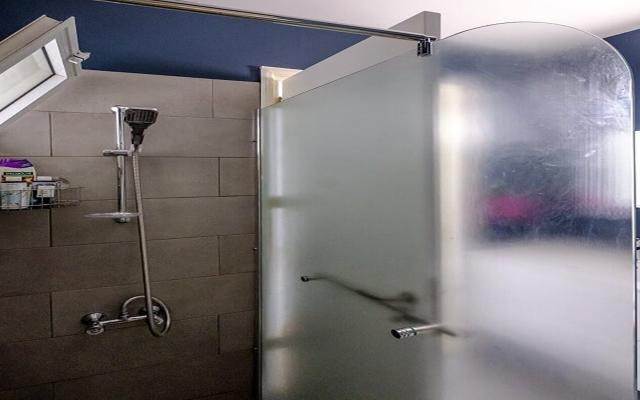 Shower area in family bathroom