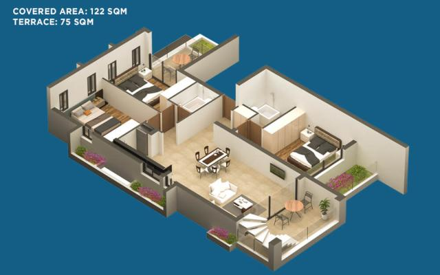 Plan for 3 bed apt in Larnaca